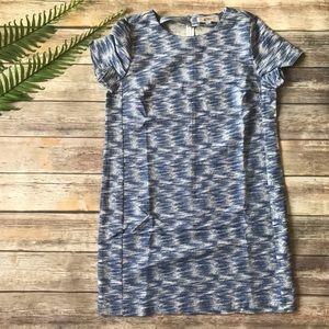 Ann Taylor Loft Blue Shift Dress